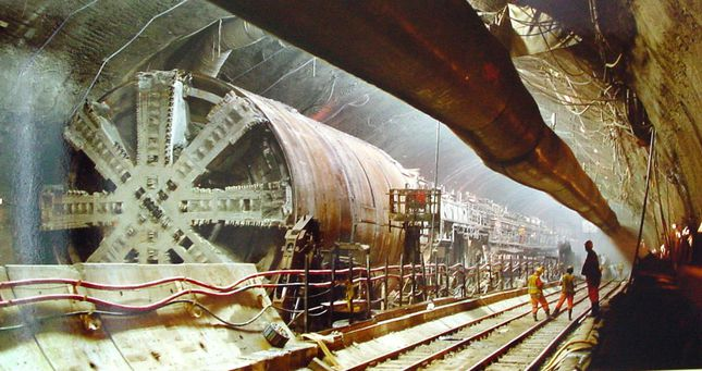 channel tunnel construction