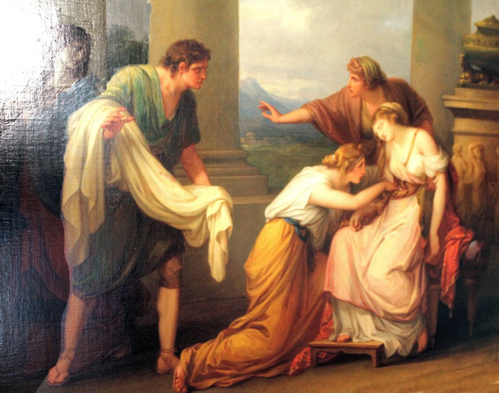 Weimar, Schlossmuseum, Angelica Kauffmann, Julia learns the supposed death of her husband Pompeius