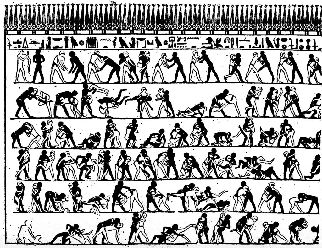 ancient egyptian wrestling