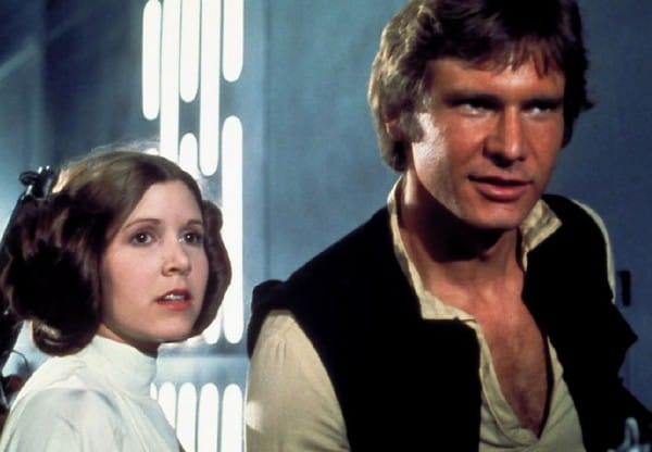 Star Wars Hans Solo and Princess Leia